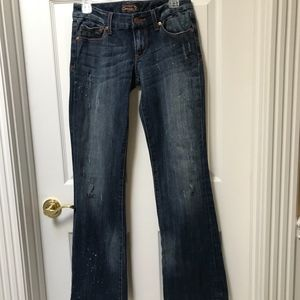 Seven7 Distressed Painter Boot Cut Jeans